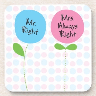 mrs. right coasters