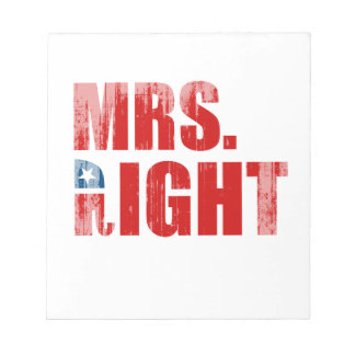 MRS. RIGHT Faded.png Memo Notepads