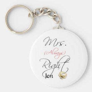 Mrs Right Keychain