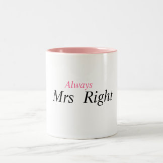 mrs right coffee mugs