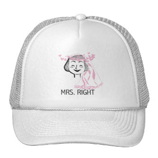 Mrs. Right Tshirts and Gifts Trucker Hats