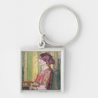 Mrs Robert Bevan, c.1913 (oil on canvas) Keychain