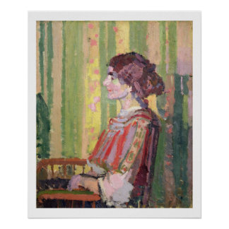 Mrs Robert Bevan, c.1913 (oil on canvas) Poster