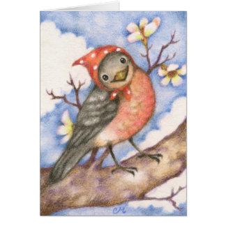Mrs. Robin - Cute Bird Art Card Greeting Card