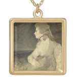 Mrs Robinson, c.1784 (oil on canvas) Square Pendant Necklace