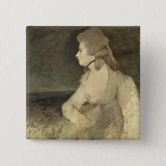 Mrs Robinson, c.1784 (oil on canvas) Pinback Button