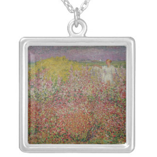 Mrs. Russell Amongst the Flowers at Belle Isle Silver Plated Necklace