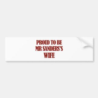 Mrs SANDERS designs Car Bumper Sticker