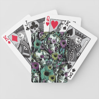 Mrs. Sandman, floral skull pattern Bicycle Playing Cards