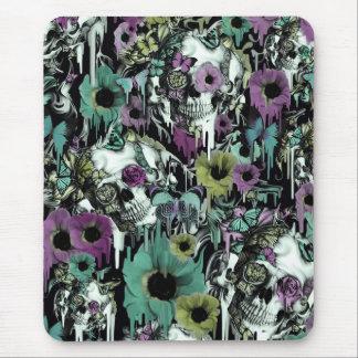 Mrs. Sandman, floral skull pattern Mouse Pad