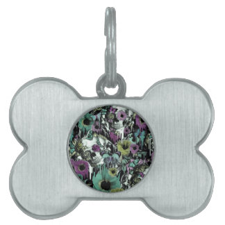Mrs. Sandman, floral skull pattern Pet Name Tag