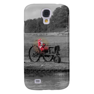 Mrs Santa Claus on a tractor on a ponds island Samsung S4 Case