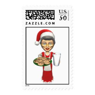 Mrs Santa,Cookies,Milk Postage