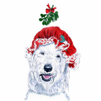 Mrs Santa Labradoodle Sculpture Standing Photo Sculpture