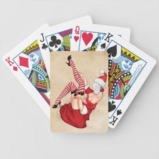 Mrs. Santa Pin Up Holiday Playing Cards
