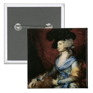 Mrs Sarah Siddons, the actress , 1785 2 Inch Square Button