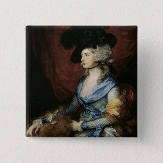 Mrs Sarah Siddons, the actress , 1785 Button