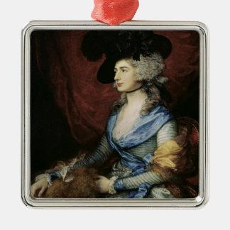 Mrs Sarah Siddons, the actress , 1785 Square Metal Christmas Ornament