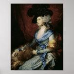 Mrs Sarah Siddons, the actress , 1785 Poster