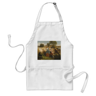 Mrs. Schuyler Burning Her Fields - Leutze (1852) Adult Apron