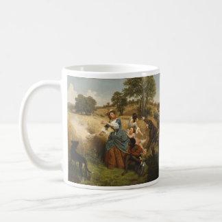 Mrs. Schuyler Burning Her Fields - Leutze (1852) Coffee Mug