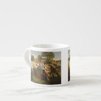 Mrs. Schuyler Burning Her Fields - Leutze (1852) Espresso Cup