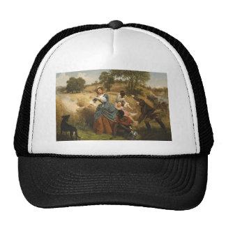 Mrs. Schuyler Burning Her Fields - Leutze (1852) Trucker Hat