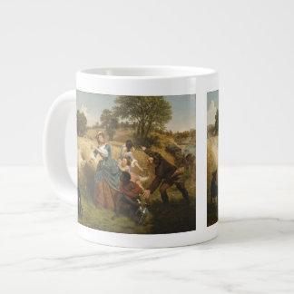 Mrs. Schuyler Burning Her Fields - Leutze (1852) Large Coffee Mug