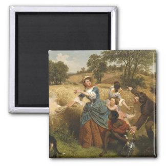 Mrs. Schuyler Burning Her Fields - Leutze (1852) Magnet
