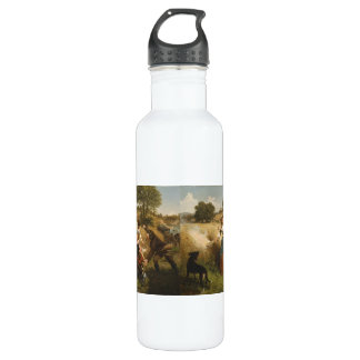 Mrs. Schuyler Burning Her Fields - Leutze (1852) Water Bottle