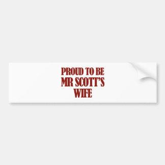 Mrs Scott designs Car Bumper Sticker