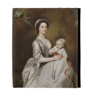 Mrs Sharpe and Child, 1731 (oil on canvas) iPad Cases