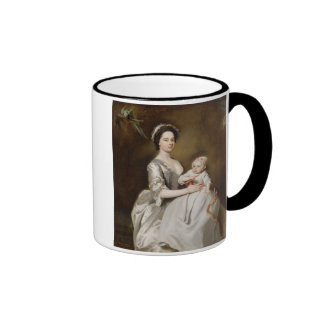 Mrs Sharpe and Child, 1731 (oil on canvas) Ringer Coffee Mug
