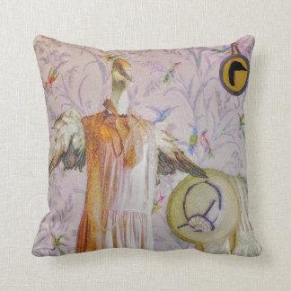 Mrs. Smew's Portrait Throw Pillow