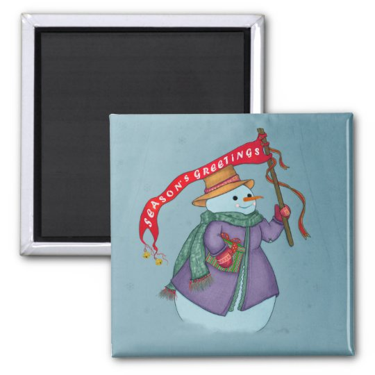 Mrs Snowmans Special Delivery  Christmas Magnet