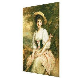 Mrs Stuart M Samuel as Phyllida Gallery Wrap Canvas