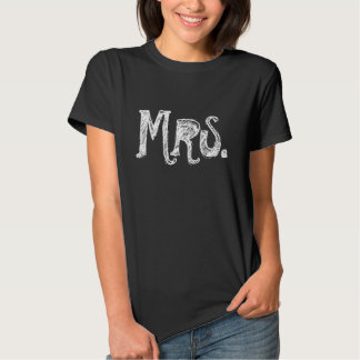 Mrs. t shirts for the bride / wife