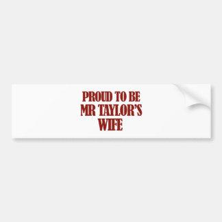 Mrs TAYLOR designs Car Bumper Sticker