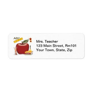 Mrs. Teacher Address Labels