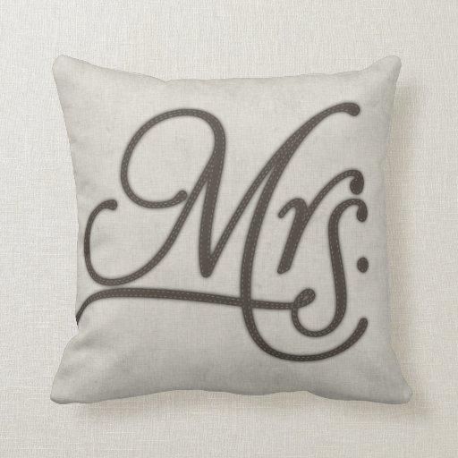 Mrs Textured Throw Pillow