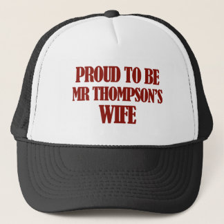 Mrs thompson designs trucker hat