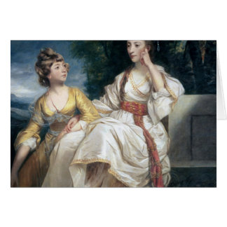 Mrs Thrale and her Daughter Hester  1777-78 Card