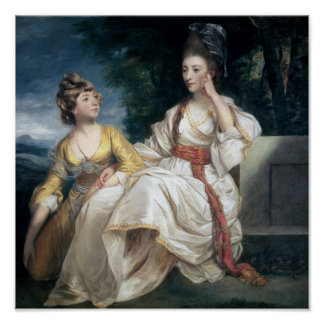 Mrs Thrale and her Daughter Hester  1777-78 Print