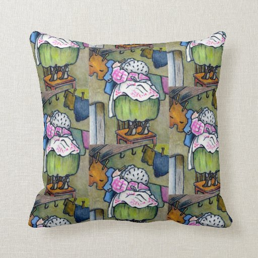 Wash Or Throw Away Pillows : Mrs. Tiggywinkle, Wash, After Beatrix Potter Throw Pillow Zazzle