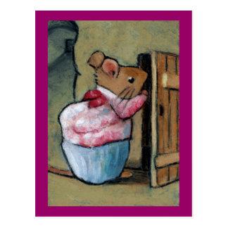 MRS TITTLEMOUSE (in Oil Pastel) After B. Potter Postcard