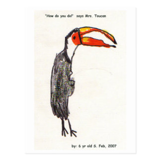 Mrs Toucan Kids Art Postcard