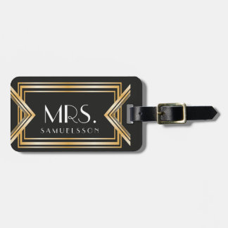 Mrs. travel Luggage Tag | Gatsby inspired