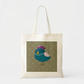 Mrs Turquoise Bird Tote Bag