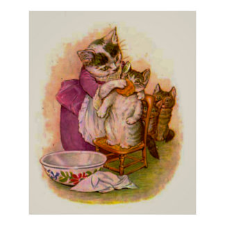 Mrs. Twitchit and Moppet (in 23 sizes) Print