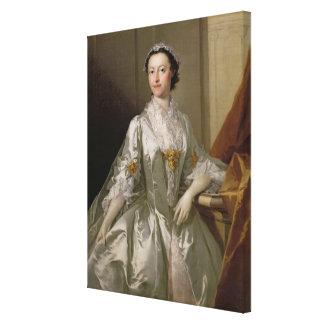 Mrs Wardle, 1742 (oil on canvas) Canvas Print